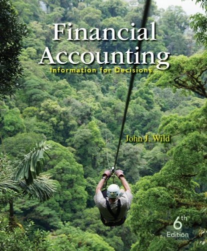 Financial Accounting Information for Decisions 6th 2013 edition cover