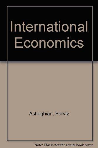International Economics 1st 9780314044389 Front Cover