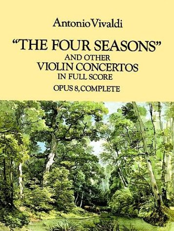Four Seasons and Other Violin Concertos in Full Score Opus 8, Complete N/A edition cover