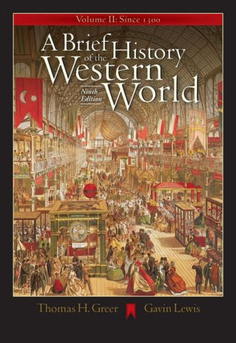Brief History of the Western World since 1300  9th 2005 9780534642389 Front Cover