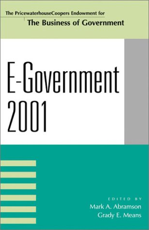 E-Government 2001  N/A 9780742513389 Front Cover