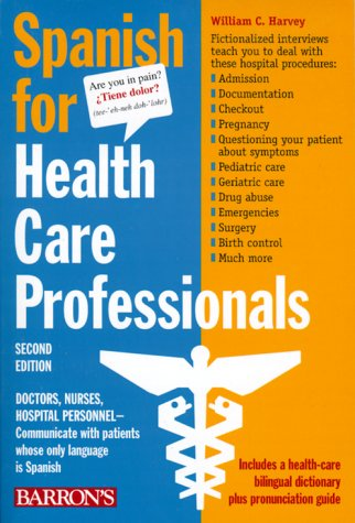 Spanish for Health Care Professionals  2nd 1977 edition cover