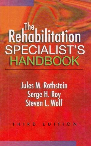 Rehabilitation Specialist's Handbook  3rd 2005 (Revised) edition cover