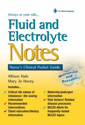 Fluid and Electrolyte Notes Nurse's Clinical Pocket Guide  2012 edition cover