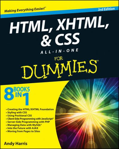 HTML5, and CSS3 All-in-One for Dummies  3rd 2013 edition cover