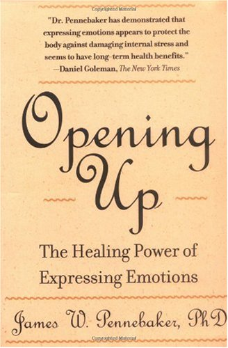 Opening Up The Healing Power of Expressing Emotions 2nd 1990 edition cover