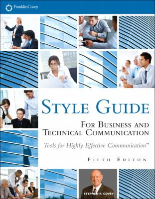 Style Guide For Business and Technical Communication 5th 2012 (Revised) edition cover