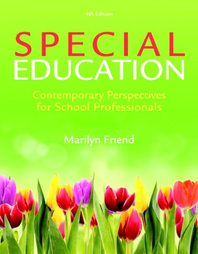Special Education Contemporary Perspectives for School Professionals 4th 2014 edition cover