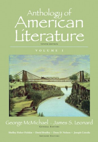 Anthology of American Literature, Volume I  10th 2011 edition cover