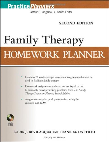 Family Therapy Homework Planner  2nd 2010 (Brief Edition) edition cover