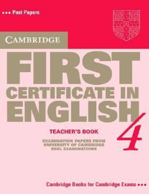 Cambridge First Certificate in English 4 Examination Papers from the University of Cambridge Local Examinations Syndicate  1998 9780521646390 Front Cover