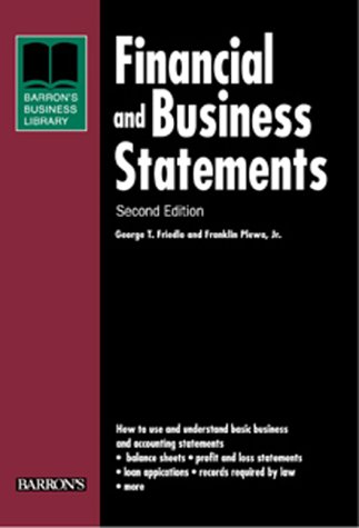 Financial and Business Statements  2nd 2000 9780764113390 Front Cover