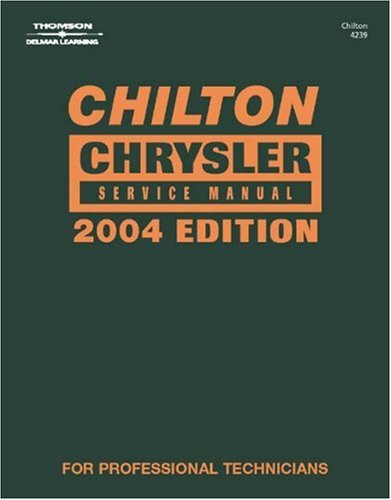 Chilton Daimler/Chrysler Service Manual   2004 (Annual) 9781401842390 Front Cover