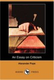 Essay on Criticism  N/A 9781406566390 Front Cover