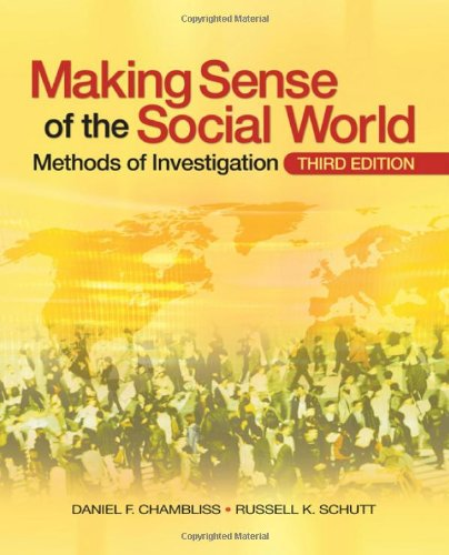 Making Sense of the Social World Methods of Investigation 3rd 2010 edition cover