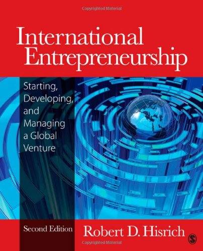 International Entrepreneurship Starting, Developing, and Managing a Global Venture 2nd 2013 edition cover