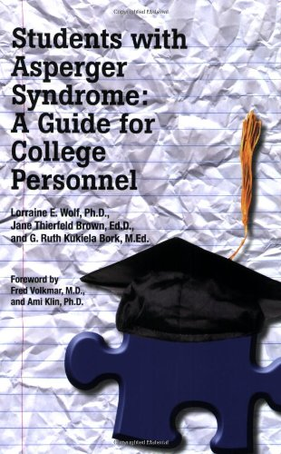 Students with Asperger Syndrome A Guide for College Personnel  2009 9781934575390 Front Cover