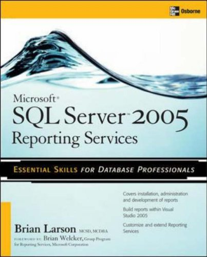 Microsoft SQL Server 2005 Reporting Services  2nd 2006 (Revised) 9780072262391 Front Cover