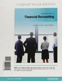 Introduction to Financial Accounting, Student Value Edition Plus NEW MyAccountingLab with Pearson EText -- Access Card Package  11th 2014 9780133473391 Front Cover