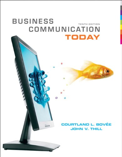 Business Communication Today  10th 2010 edition cover