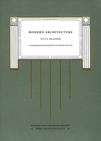 Modern Architecture A Guidebook for His Students to This Field of Art N/A 9780226869391 Front Cover