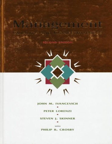 Management Quality and Competitiveness 2nd 1997 edition cover