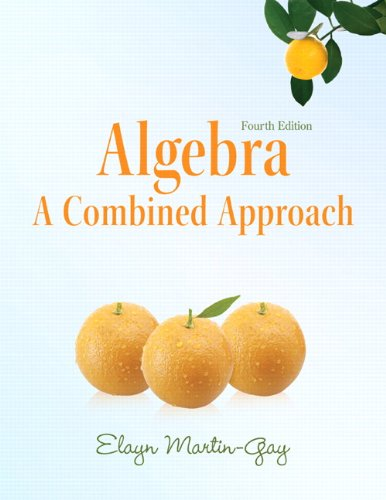 Algebra A Combined Approach 4th 2012 edition cover