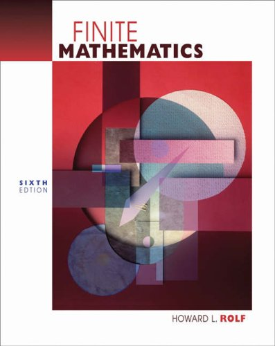 Finite Mathematics  6th 2005 (Revised) 9780534465391 Front Cover