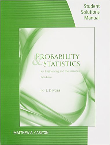 Probability and Statistics For Engineering and Science 8th 2012 edition cover