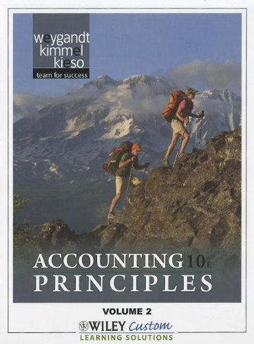 Accounting Principles 10th Edition Volume 2 for Queensborough Community College 10th 2011 9781118101391 Front Cover