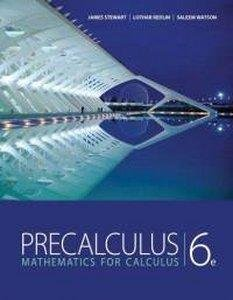 Precalculus 6th 1997 (Student Manual, Study Guide, etc.) edition cover