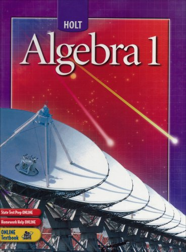Algebra 1  Student Manual, Study Guide, etc. 9780030700392 Front Cover