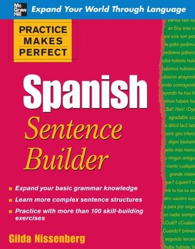 Spanish - Sentence Builder   2010 edition cover