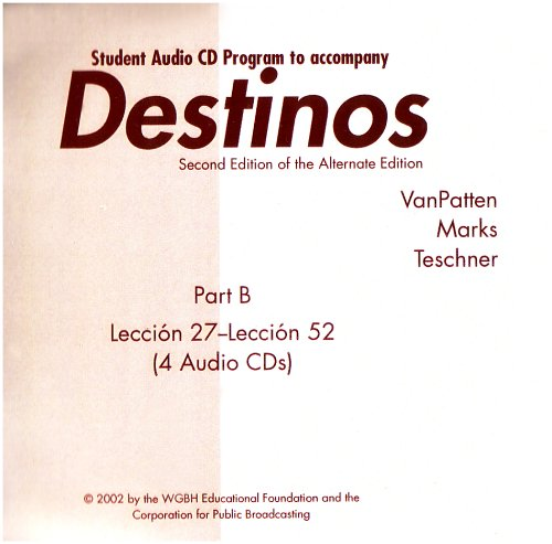 Destinos  2nd 2002 (Student Manual, Study Guide, etc.) 9780072504392 Front Cover