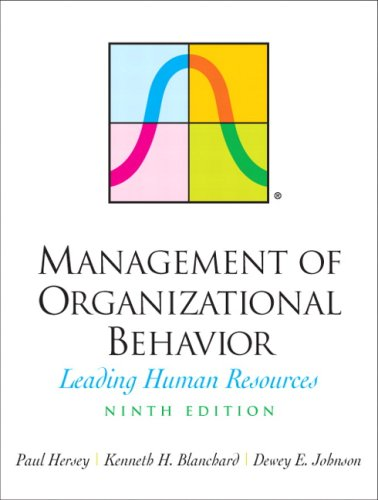 Management of Organizational Behavior Leading Human Resources 9th 2008 edition cover