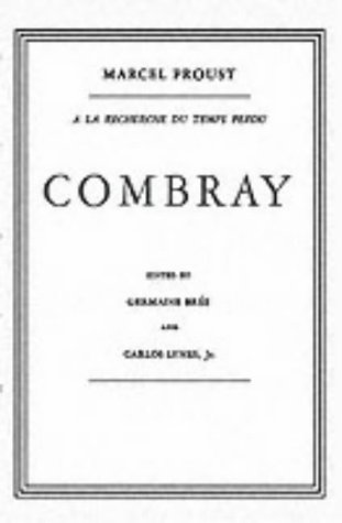 Combray in French   1952 edition cover