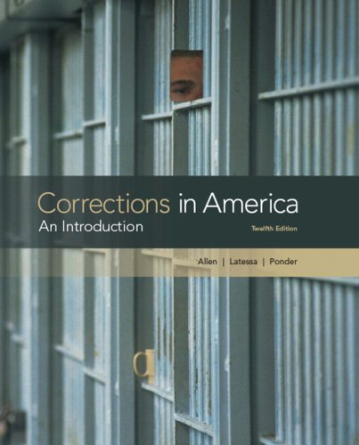 Corrections in America An Introduction 12th 2010 edition cover