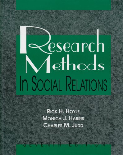 Research Methods in Social Relations  7th 2002 (Revised) edition cover