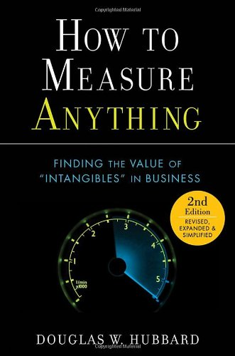 How to Measure Anything Finding the Value of Intangibles in Business 2nd 2010 edition cover