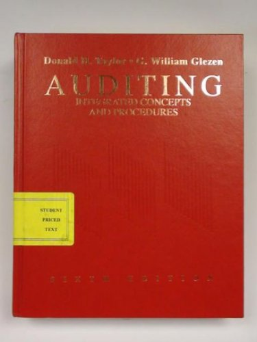 Auditing Integrated Concepts and Procedures 6th 1994 9780471590392 Front Cover