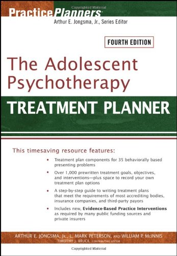 Adolescent Psychotherapy Treatment Planner  4th 2006 (Revised) edition cover