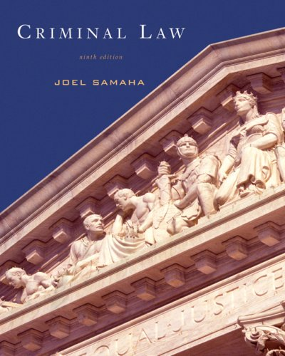 Criminal Law  9th 2008 (Revised) edition cover