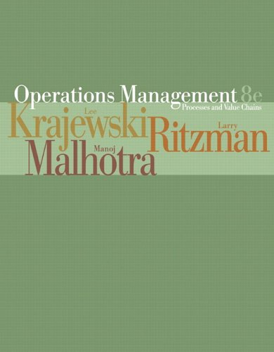 Operations Management Processes and Value Chains 8th 2007 (Revised) edition cover