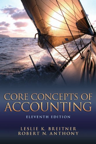 Core Concepts of Accounting  11th 2013 (Revised) edition cover