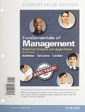 Fundamentals of Management Essential Concepts and Applications, Student Value Edition Plus 2014 MyManagementLab with Pearson EText -- Access Card Package 9th 2015 edition cover