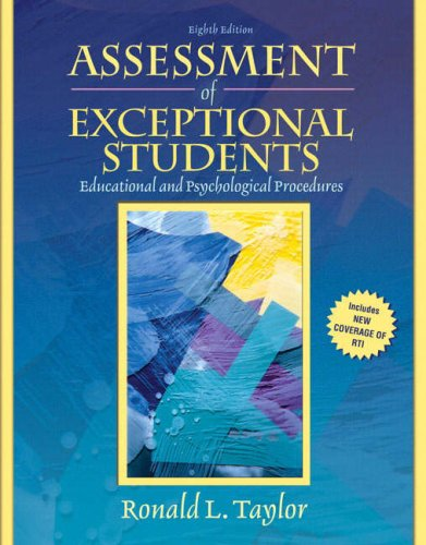 Assessment of Exceptional Students  8th 2009 edition cover
