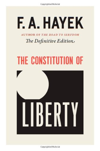 Constitution of Liberty The Definitive Edition  2010 (Revised) edition cover