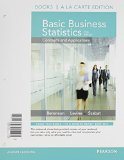 Basic Business Statistic  13th 2015 edition cover