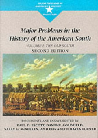 Major Problems in the History of the American South  2nd 1999 edition cover