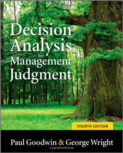 Decision Analysis for Management Judgment  4th 2010 edition cover